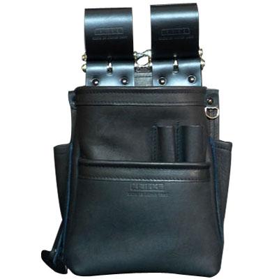 KNICKS(ニックス) 自在型チェーンタイプ総グローブ革2段腰袋 ブラック ※取寄品 KB-201SPDX