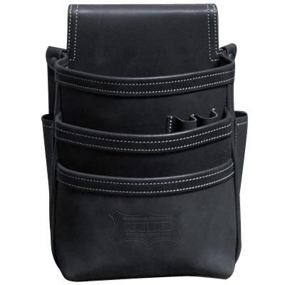 KNICKS(ニックス) 総ヌメ革使用3段腰袋 ブラック ※取寄品 KBS-301DD