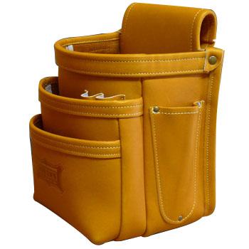 KNICKS(ニックス) 最高級硬式グローブ革3段腰袋 キャメル ※取寄品 KGC-301DD