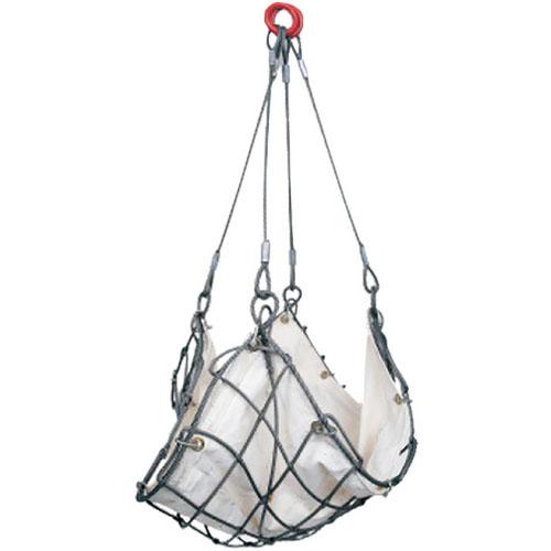 H.H.H.(スリーエッチ) ワイヤーモッコ交換用シート(綿帆布水抜穴付)1.5m角用 MSN15 ※取寄せ品