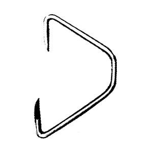 H.H.H.(スリーエッチ) ワイヤーフック ステンレス製 T25×2.5(1箱価格) ※取寄せ品