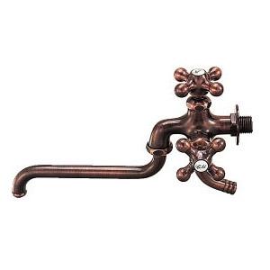 カラー双口自在水栓(ブロンズ) 7042FBP-13 カクダイ 7042FBP-13