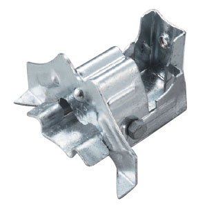 白幡 ストップフジ三晃式 K-2(1本ボルト)115mm 鉄・ドブメッキ(1箱・60個価格) ※取寄品 H-11
