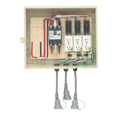 屋外電力用仮設ボックス ベージュ(1個価格) ※取寄品 未来工業 14-33CB5L