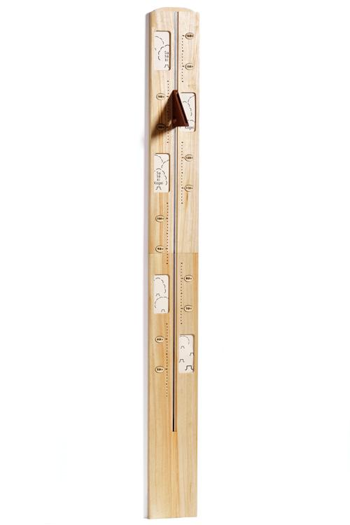 アルデ のびのび身長計 天然木 写真フレーム付き ※メーカー直送代引不可 SCALE160