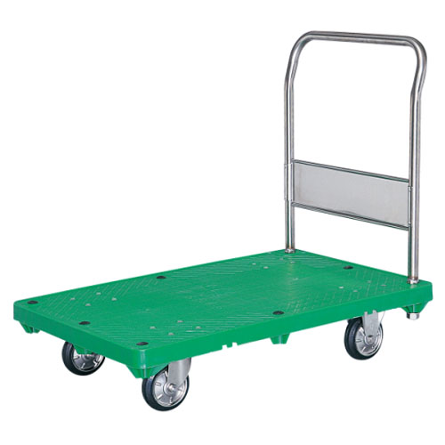 シシク 運搬台車 (プラスチック製ステンレス仕様、ハンドル固定) MB-SUG