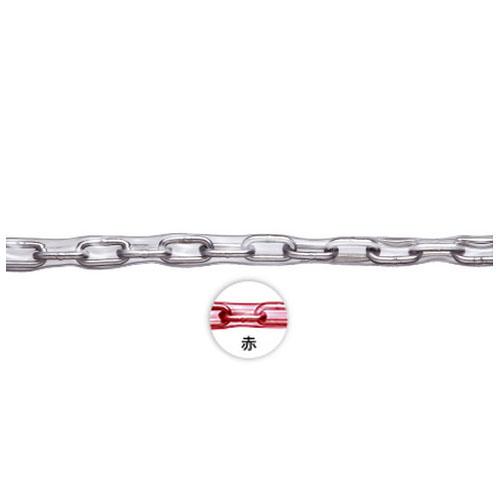 水本機械 ステンレス製 赤色チューブ保護チェーン 線径1.4×内長7.3×内巾3.2mm 200m価格 ※取寄品 1.4HA-R
