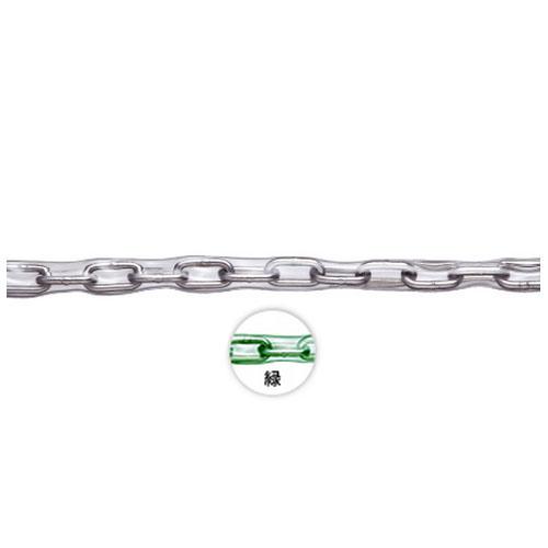 水本機械 ステンレス製 緑色チューブ保護チェーン 線径1.6×内長16.8×内巾5mm 150m価格 ※取寄品 1.6HA-GR