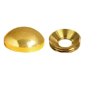 太鼓鋲風ネジキャップ&ワッシャー 真鍮メッキ 丸 QX50セット入 ※取寄品 ダンドリビス C-TCMMXX-50