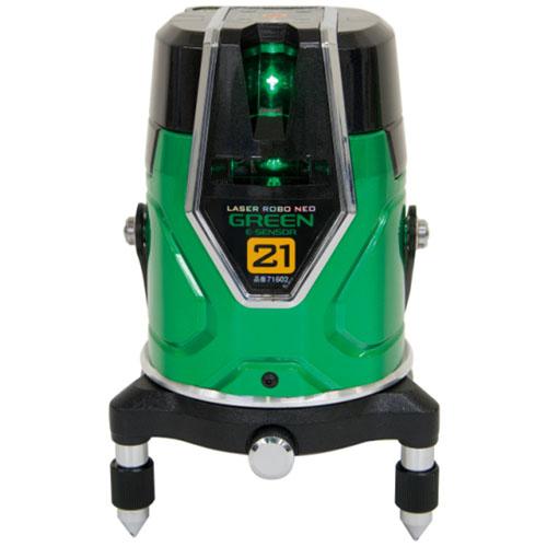 シンワ レーザーロボ グリーン Neo E Sensor 21 縦 横 地墨 ※取寄品 71602