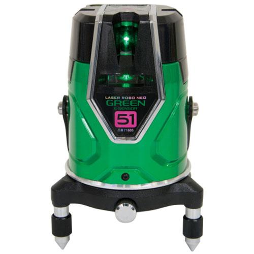 シンワ レーザーロボ グリーン Neo E Sensor 51 縦 横 大矩 通り芯×2 地墨 ※取寄品 71605