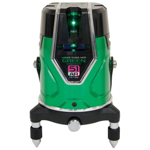 シンワ レーザーロボ グリーン Neo E Sensor 51AR フルライン 地墨 ※取寄品 71606