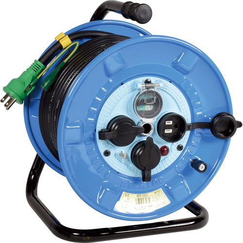 日動 リペアポッキンドラム 防雨型 30m アース付/漏電しゃ断器付 NPW-EB33RE
