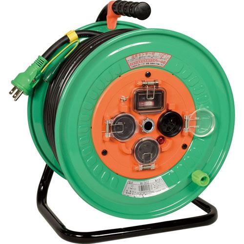 日動 リペアポッキンドラム 防雨型 50m センサー付 過負荷・短絡・漏電しゃ断器付 NW-EK53RE