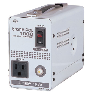 日動 海外用トランス 1KVA C2入力220~230V PAL-1000EP