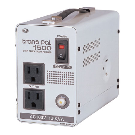 日動 海外用トランス 1.5KVA C2入力220~230V PAL-1500EP