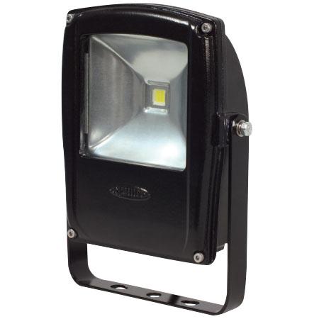 日動 LEDフラットライト10W 昼白色 本体黒 LEN-F10D-BK