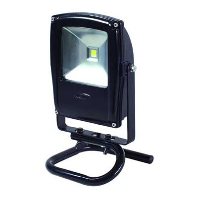 日動 LEDフラットライト10W 電球色 本体黒 床スタンドタイプ LEN-F10S-BK-S