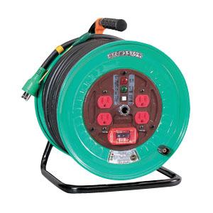 日動 標準型ドラム(屋内型)センサー付 アース付 15A 30m ND-EK34