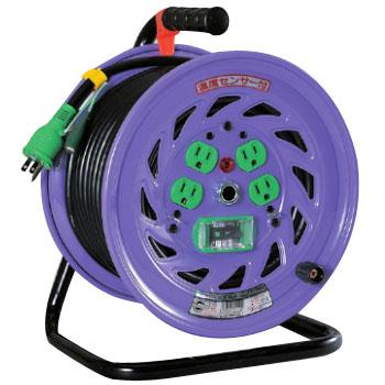 日動 標準型ドラム(屋内型)アース付 30m 漏電保護専用 ND-EB34F