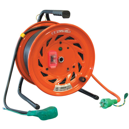 日動 延長コード型ドラム(屋内型)アース付 20m 過負荷漏電保護兼用 NL-EK20S