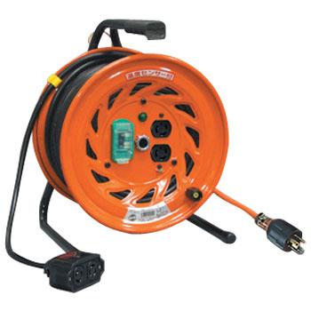 日動 延長コード型ドラム(びっくリール)30m ロック式コンセントプラグ付 RND-EK30SL