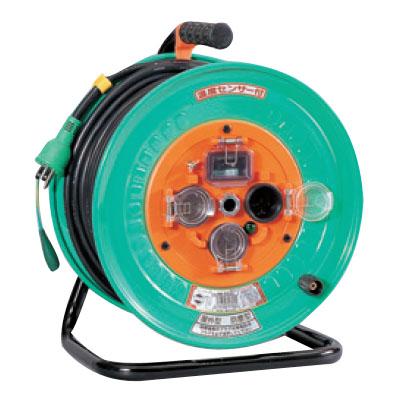 日動 防雨防塵型ドラム(屋外型)アース付 30m 漏電保護専用 NW-EB33F