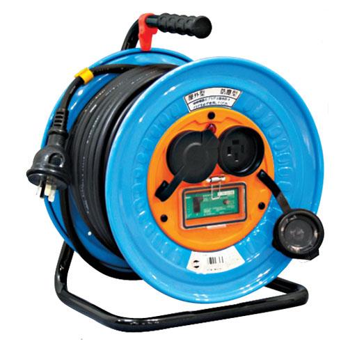日動 防雨・防塵型三相200V動力用電工ドラム E付20m DNW-E320-20A