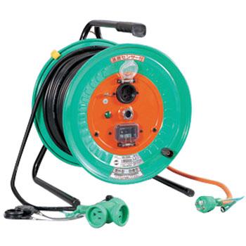 日動 防雨防塵型延長コード型ドラム 温度センサー 50m 過負荷・漏電保護兼用 RBW-EK50S