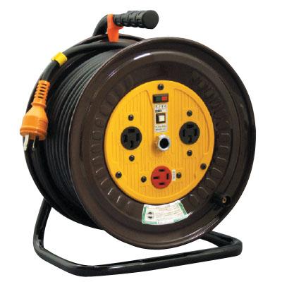 日動 三相200V逆転コンセント付動力用電工ドラム 20m ND-E320R-20A