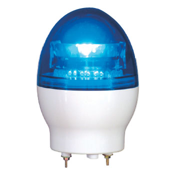 日動 ニコフラッシュ 中型LED回転灯 VL11F型 青 DC24V VL11F-D24NB
