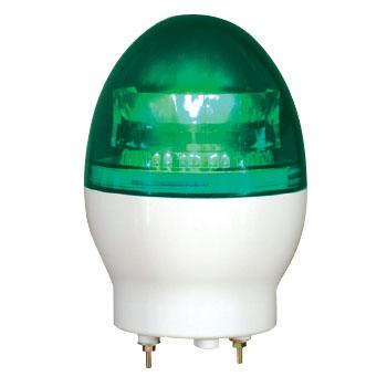 日動 ニコフラッシュ 中型LED回転灯 VL11F型 緑 AC100V VL11F-100NPG
