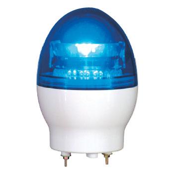 日動 ニコフラッシュ 中型LED回転灯 VL11F型 青 AC100V VL11F-100NPB