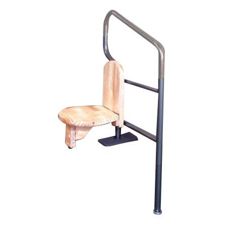 腰掛付上がり框手すり 32×700~800mm ブロンズ色 ※取寄せ品 シクロケア
