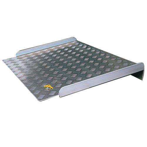 シクロケア アルミスロープ据置型 巾800×500mm シルバー ※取寄せ品