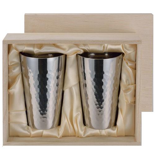 アサヒ チタン2重カップ 2pcセット(木箱入) TW-2