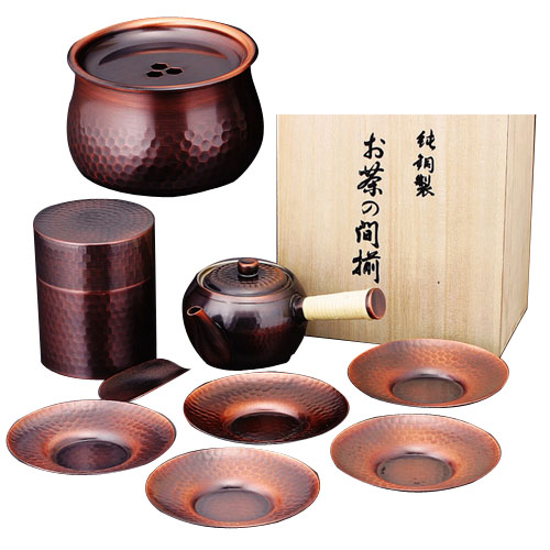 アサヒ 夢 急須・茶筒・建水・茶托セット(木箱入) CB525