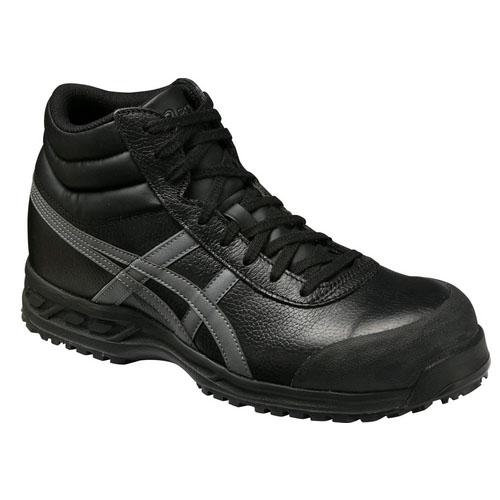 アシックス JIS安全靴 ウィンジョブR ブラック×ガンメタル 71S 23.5cm ※取寄品 FFR71S