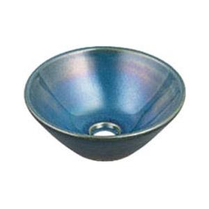 カクダイ 丸型手洗器(孔雀) 493-011-CB