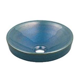 カクダイ 丸型手洗器(孔雀) 493-012-CB