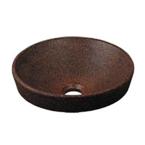 華麗 493-012-M:大工道具・金物の専門通販アルデ 丸型手洗器(窯肌) カクダイ-DIY・工具