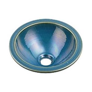 カクダイ 丸型手洗器(孔雀) 493-013-CB