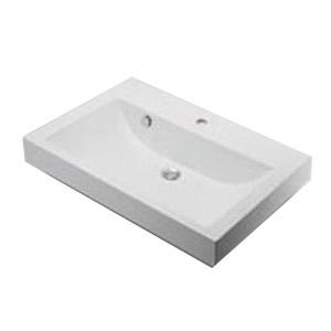 カクダイ 角型洗面器(1ホール) 9.5L ※メーカー直送品 493-070-750