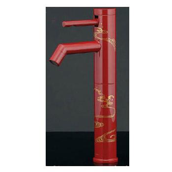 シングルレバー立水栓(トール・漆塗り) メーカー直送品 カクダイ 716-212-13