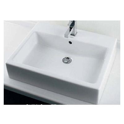 カクダイ 角型洗面器(1ホール) 10.5L メーカー直送品 #DU-0452600000