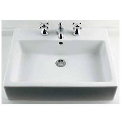 カクダイ 角型洗面器(3ホール) 10.5L メーカー直送品 #DU-0452600030