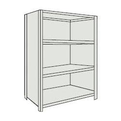 トラスコ 軽量棚(背板・側板付・4段)1215×615×1204mm ネオグレー 44W-24-NG