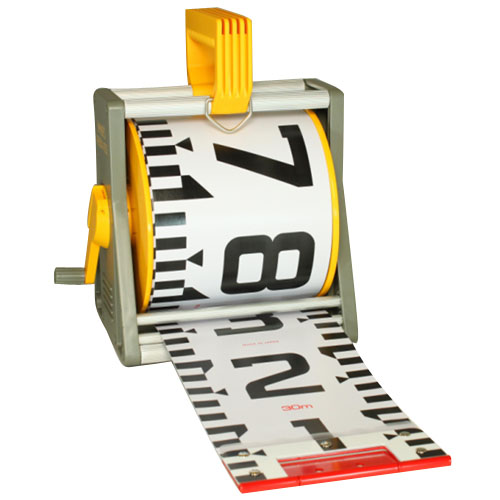 ヤマヨ測定機 150mm幅リボンロッドケース(ケース・テープのセット品)E2タイプ 20m ※取寄品 R15B20M