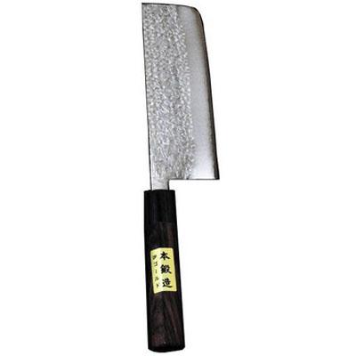 三木刃物 鍛造ステンレス 菜切庖丁 ゴールド鎚目割込 刃長165mm ※取寄品 M133