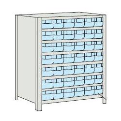 トラスコ 軽量ボルト式棚プラスチック引出透明(小)42 890×315×1204mm ネオグレー 43V-808C7-NG